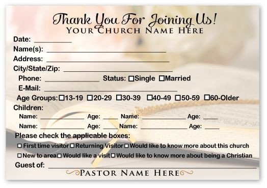 Church Visitor Card Template Word Wel E Visitor Postcard Image to Close