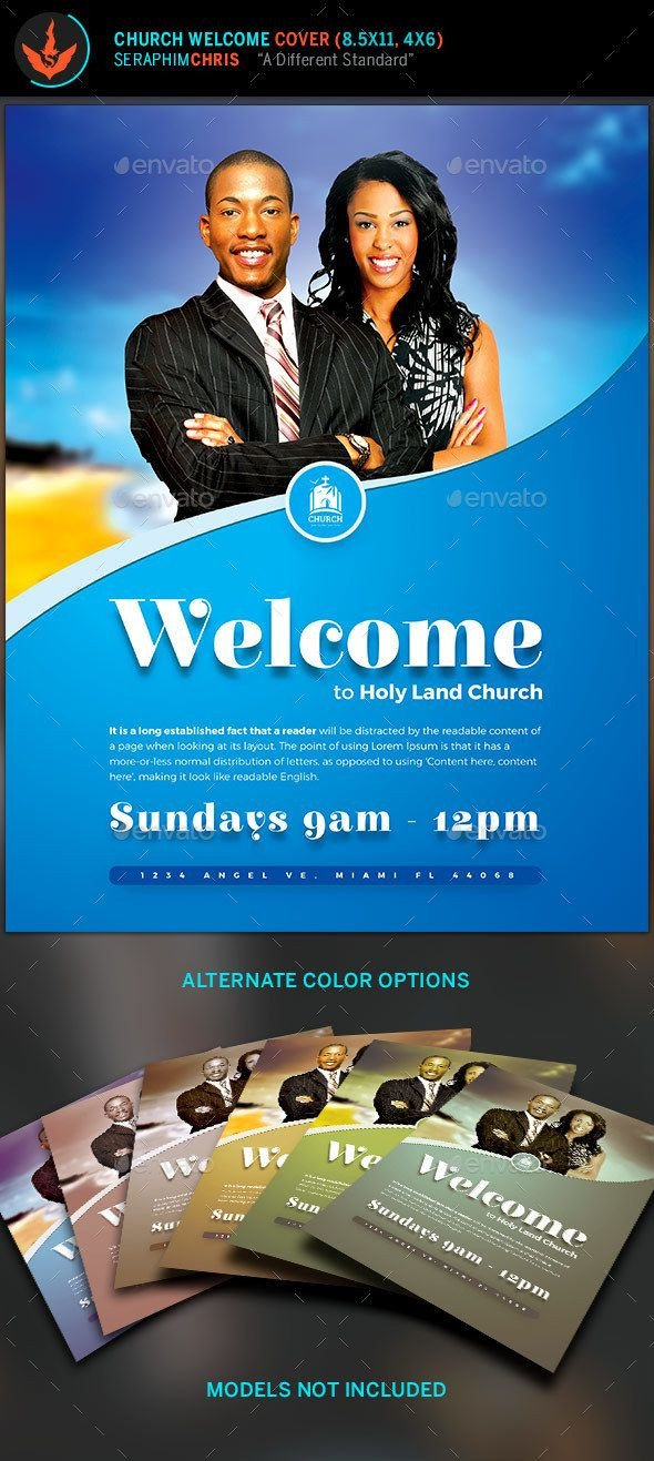 Church Welcome Letter Template Church Wel E Cover Template