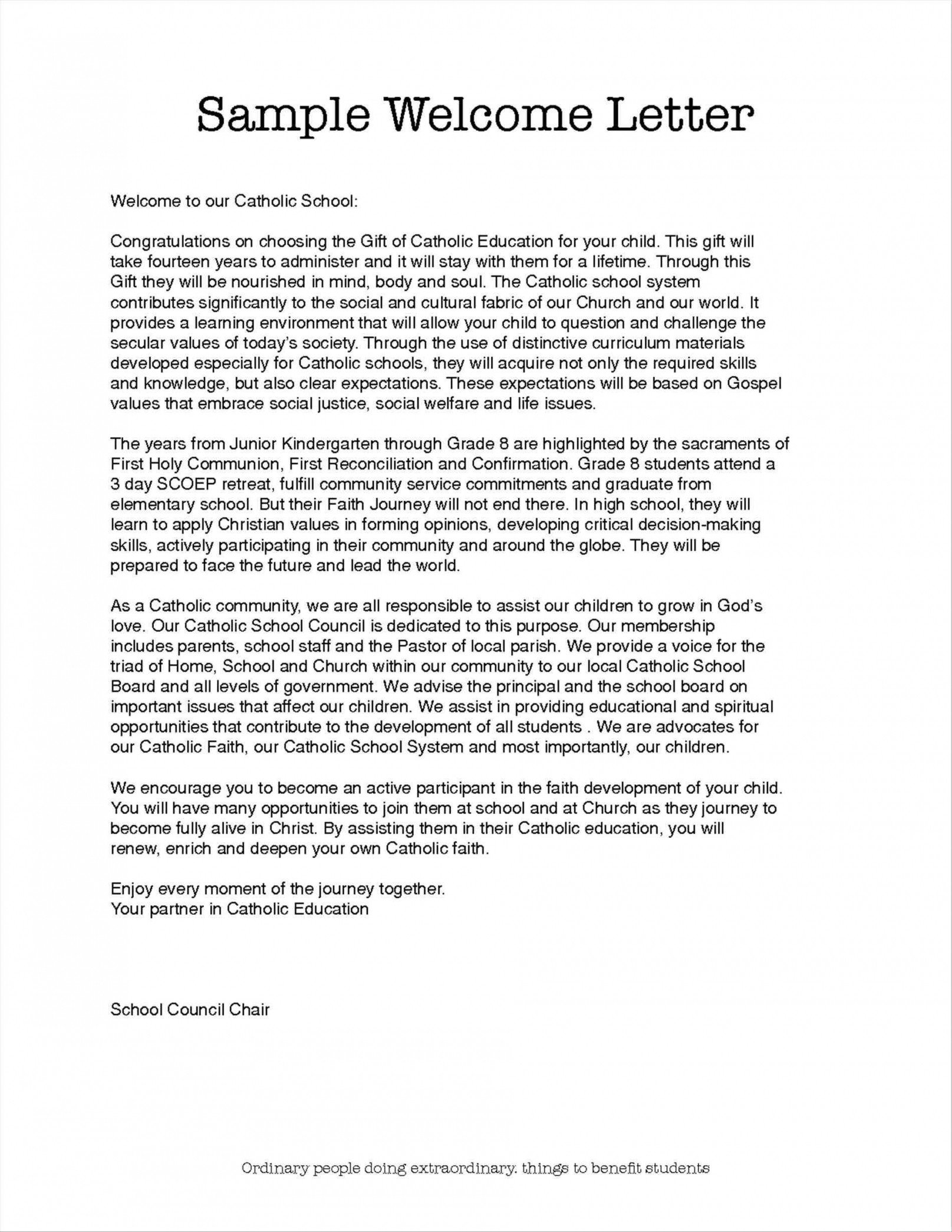 Church Welcome Letter Template Church Wel E Letter Template Examples