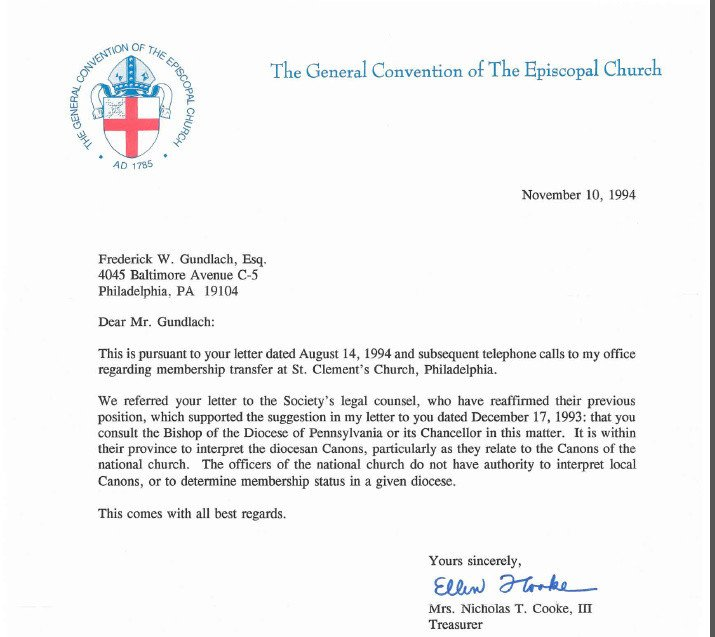 Church Welcome Letter Template St Clement's Church Philadelphia Hijinks Redux – Hoofin