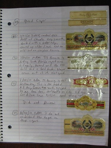 Cigar Dossier Template Cigar Geeks Viewing A Thread Cigar Journal Dossier