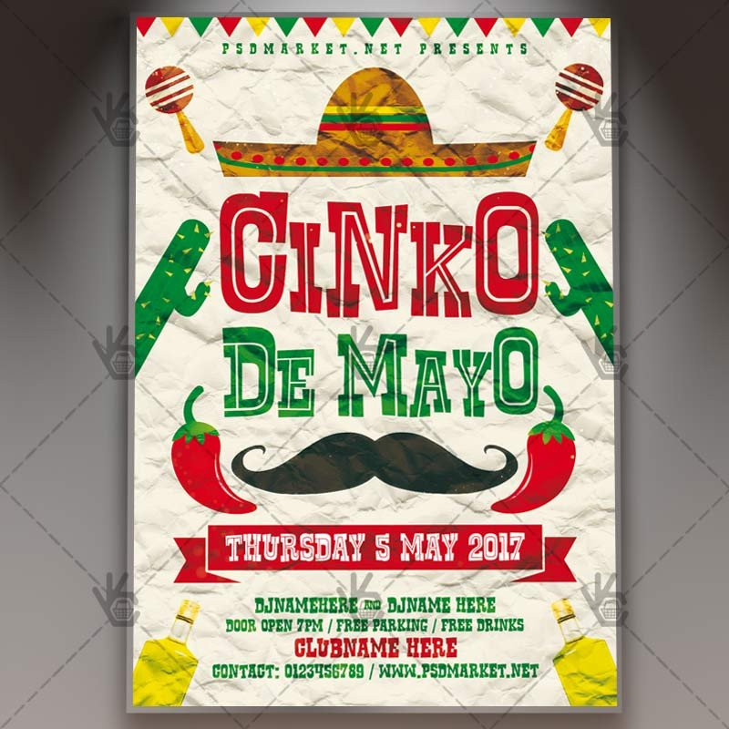 Cinco De Mayo Flyer Cinco De Mayo Carnival Premium Flyer Psd Template