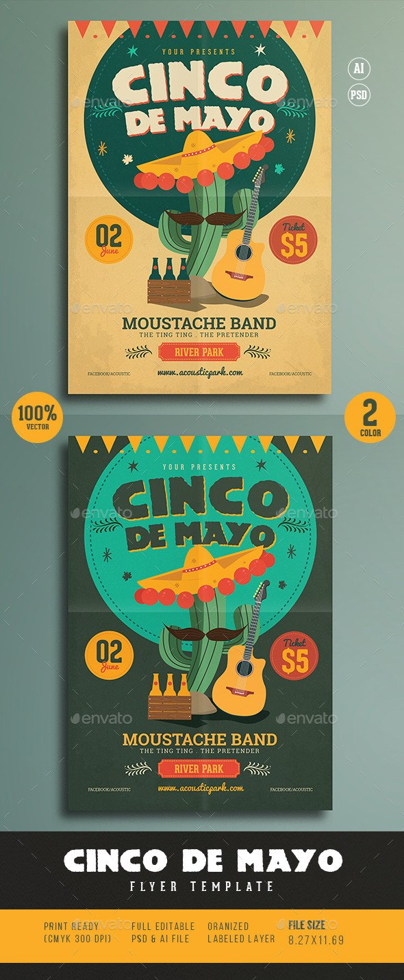 Cinco De Mayo Flyer Cinco De Mayo Flyer by Guuver