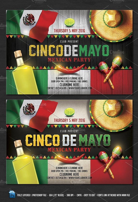 Cinco De Mayo Flyer Cinco De Mayo Flyer Flyer Templates On Creative Market