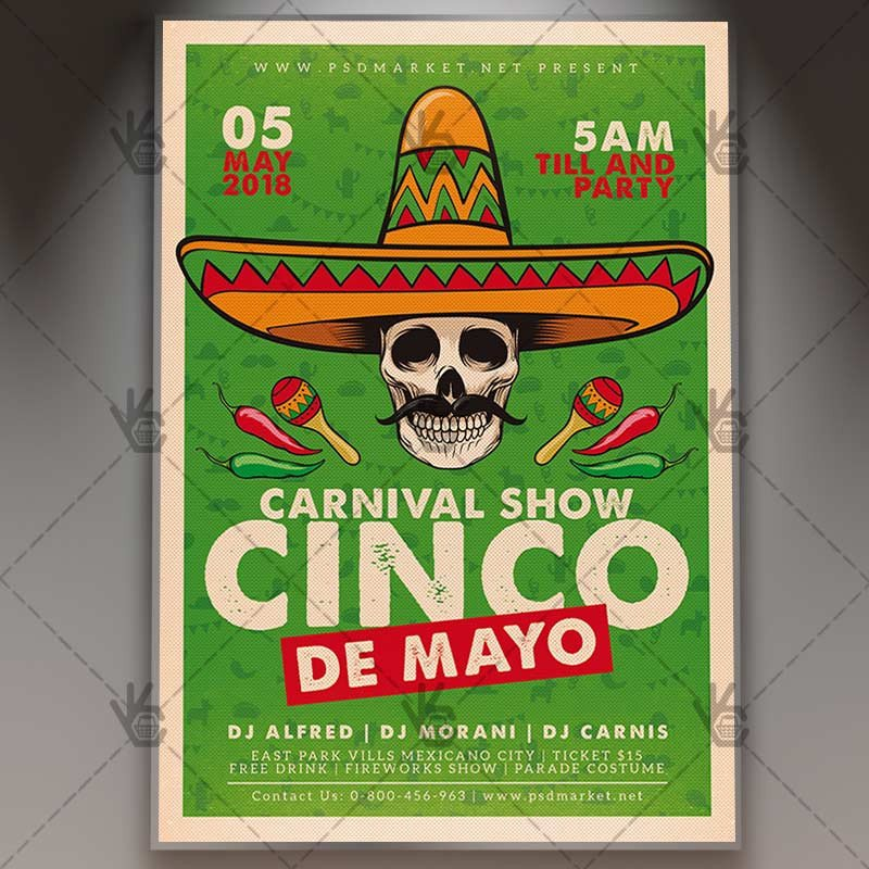 Cinco De Mayo Flyer Cinco De Mayo Flyer Mexican Psd Template