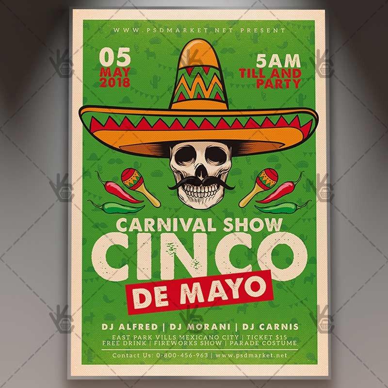Cinco De Mayo Flyer Cinco De Mayo Flyer Mexican Psd Template