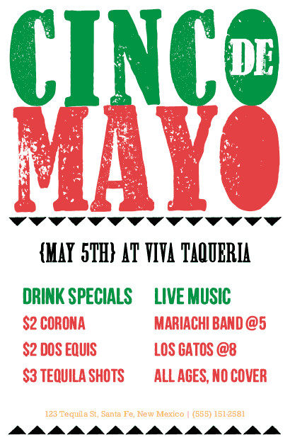 Cinco De Mayo Flyer Cinco De Mayo Flyer
