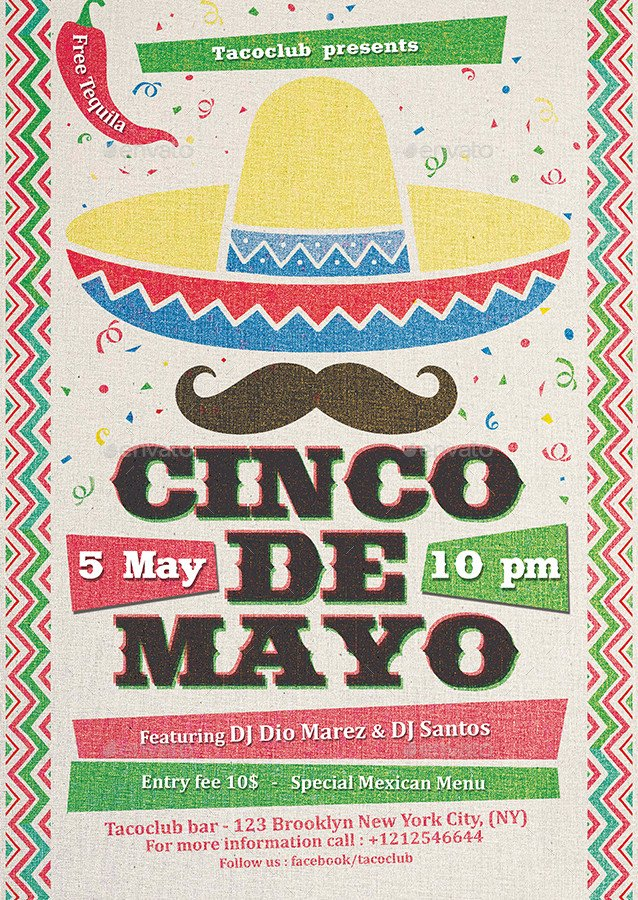 Cinco De Mayo Flyer Cinco De Mayo Flyer Template by Indworks