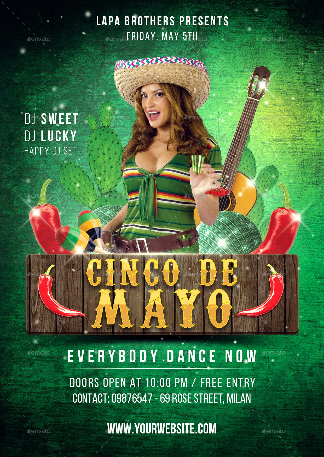 Cinco De Mayo Flyer Cinco De Mayo Flyer Template by Lapabrothers