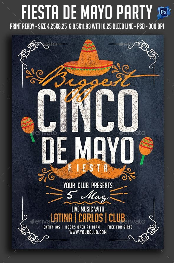 Cinco De Mayo Flyer Cinco De Mayo Flyer Template Psd Download Here