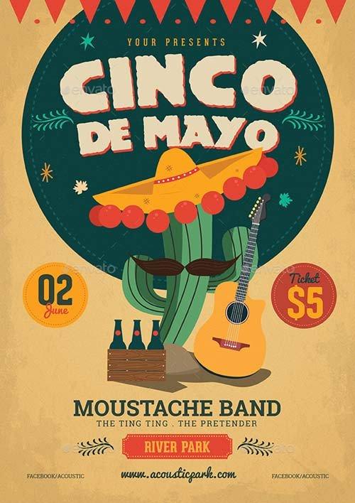 Cinco De Mayo Flyer Cinco De Mayo Illustration Flyer Template Best Flyer for