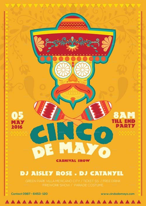 Cinco De Mayo Flyer Cinco De Mayo Illustrator Flyer Template Best Flyer for