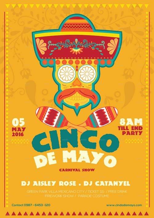 Cinco De Mayo Flyer Cinco De Mayo Illustrator Flyer Template Best Flyer for