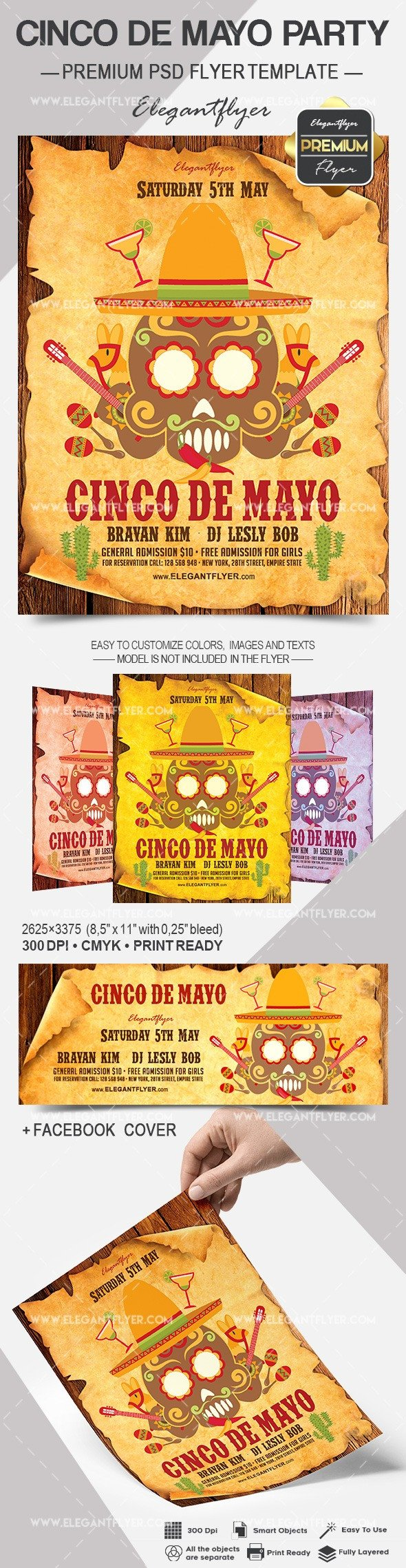 Cinco De Mayo Flyer Cinco De Mayo Party Club Flyer – by Elegantflyer