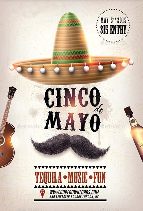 Cinco De Mayo Flyer Cinco De Mayo Party Club Flyer Template Best Flyer for