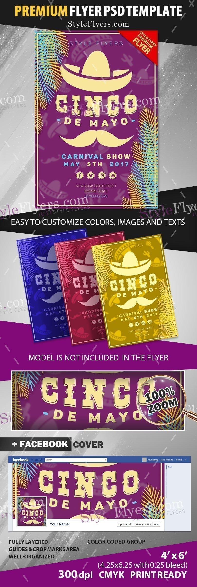 Cinco De Mayo Flyer Cinco De Mayo Psd Flyer Template Styleflyers