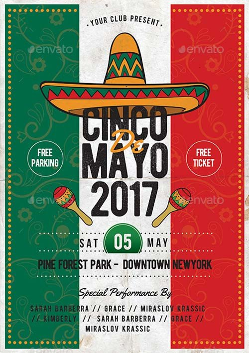 Cinco De Mayo Flyer Cinco De Mayo Psd Template Best Flyer for Mayo Parties
