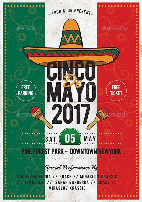 Cinco De Mayo Flyer Cinco De Mayo Psd Template Best Flyer for Mayo Parties