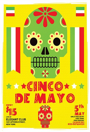Cinco De Mayo Flyer Free Psd Flyer Templates for Shop by Elegantflyer