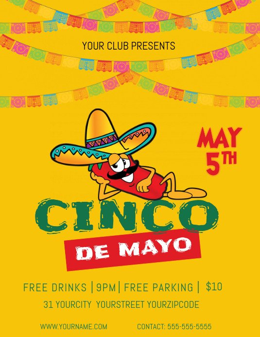 Cinco De Mayo Flyer May 5th Flyer Template