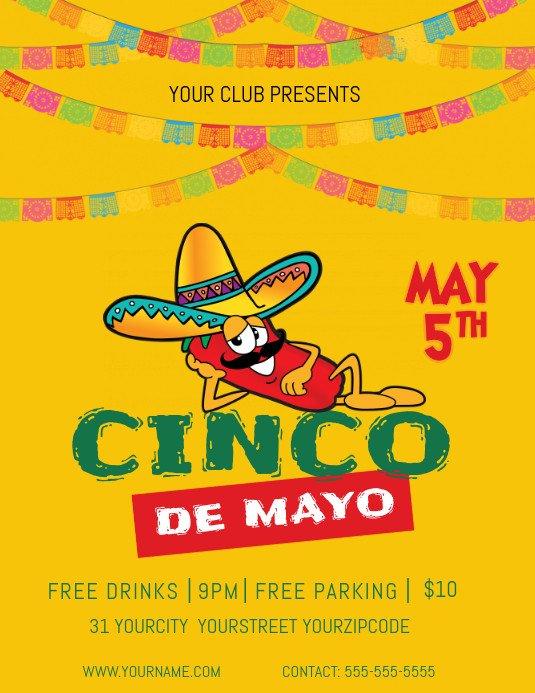 Cinco De Mayo Flyer May 5th Flyer Template