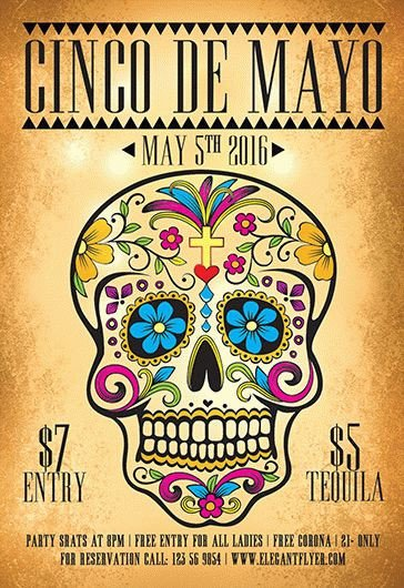 Cinco De Mayo Flyer Mexican Party – Free Flyer Psd Template – by Elegantflyer