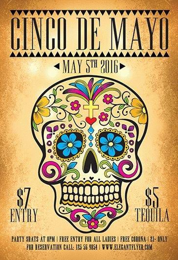 Cinco De Mayo Flyer Mexican Party – Free Flyer Psd Template – by Elegantflyer