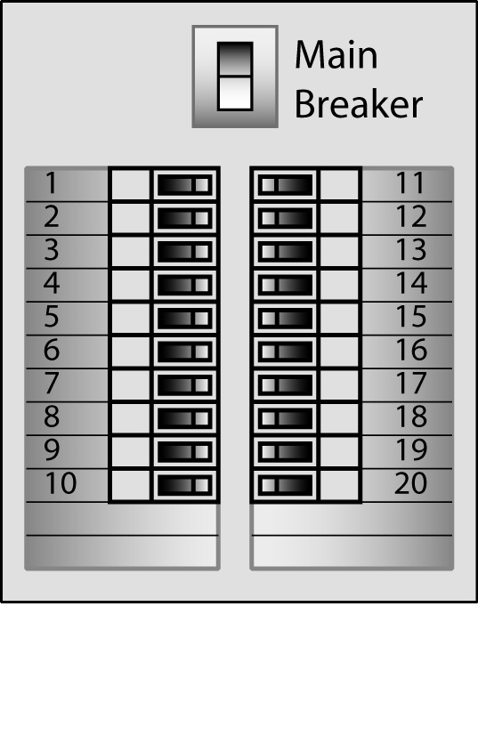 Circuit Breaker Panel Label Template Electrical