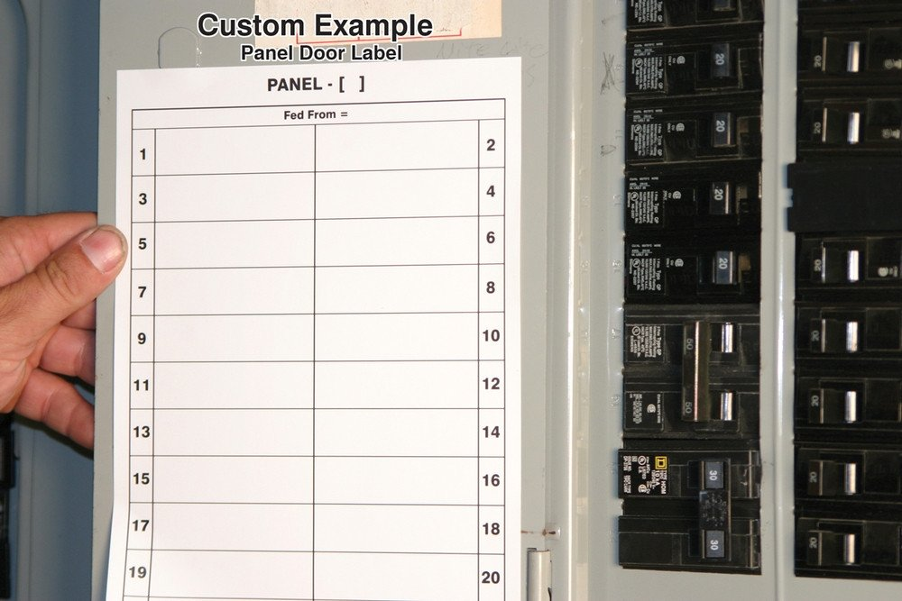 Circuit Breaker Panel Label Template Safety Signs Safety Tags and Safety Labels by Accuform Signs