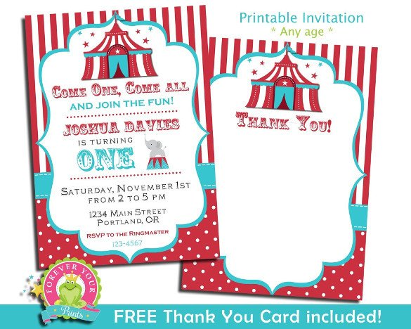 Circus Invitation Template Free 27 Carnival Birthday Invitations Free Psd Vector Eps