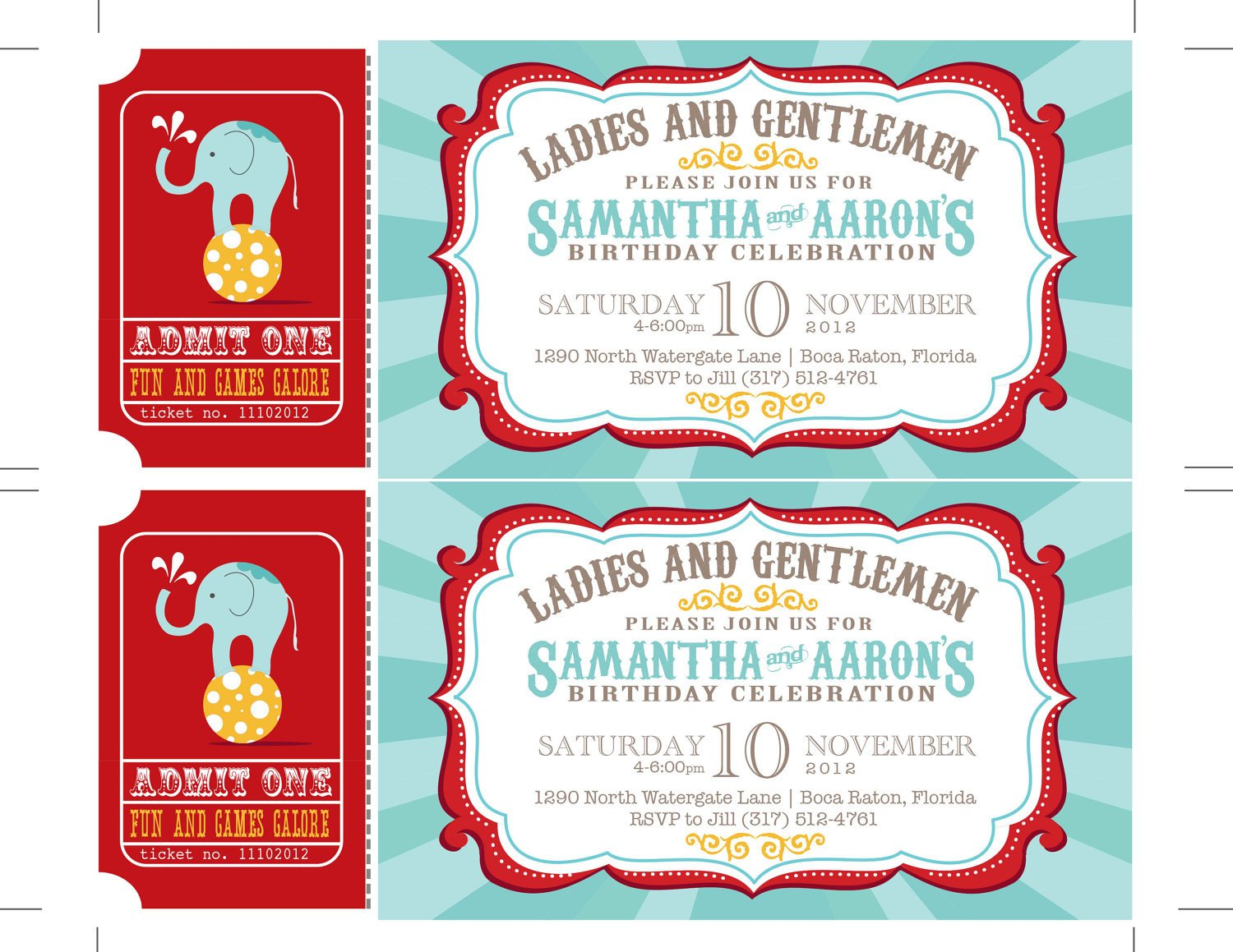 Circus Invitation Template Free Reserved Carnival Invitations Circus Invitations Ticket