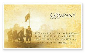 Civil War Powerpoint Template American Civil War Business Card Template Layout
