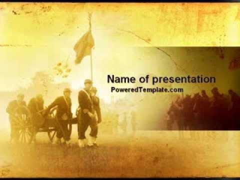 Civil War Powerpoint Template American Civil War Powerpoint Template by Poweredtemplate