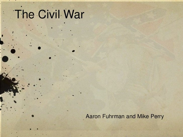 Civil War Powerpoint Template Civil War Ppt for Reed527