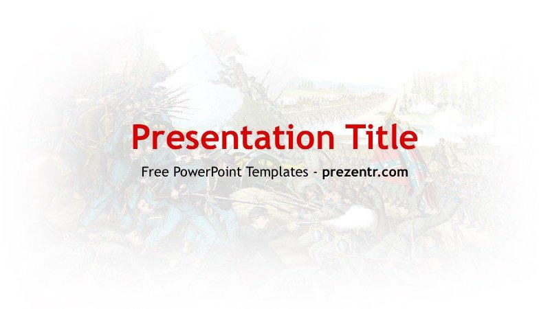 Civil War Powerpoint Template Free American Civil War Powerpoint Template Prezentr Ppt