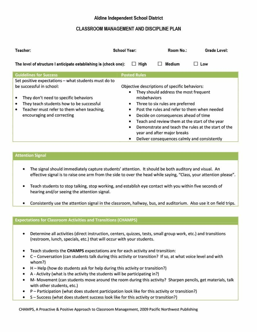 Classroom Management Plan Template Classroom Management Plan 38 Templates & Examples