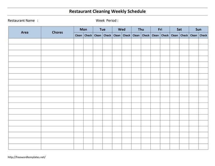 Cleaning Checklist Template Excel Best 25 Cleaning Schedule Templates Ideas On Pinterest