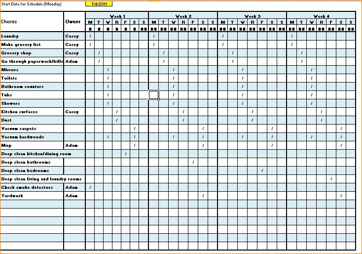 Cleaning Checklist Template Excel Cleaning Checklist Template Excel
