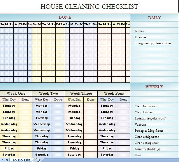 Cleaning Checklist Template Excel House Cleaning Checklist It S In Excel so You Can Change