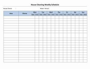 Cleaning Schedule Template for Office House Cleaning Stay at Home Mom House Cleaning Schedule