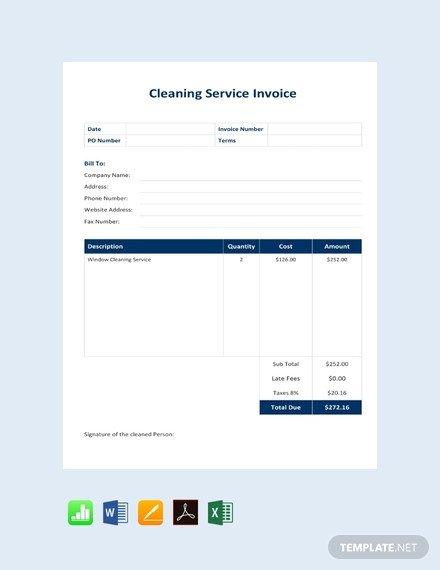 Cleaning Services Invoice Template Free Business Service Invoice Template Download 147