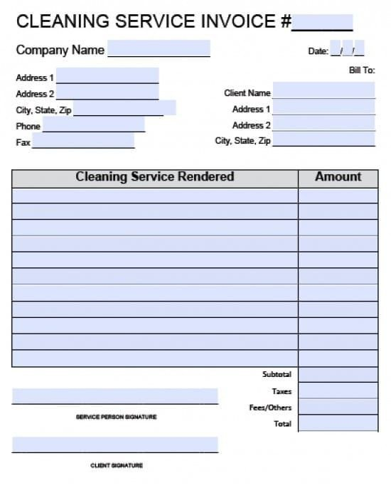 Cleaning Services Invoice Template Free House Cleaning Service Invoice Template Excel
