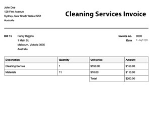 Cleaning Services Invoice Template Free Invoice Templates