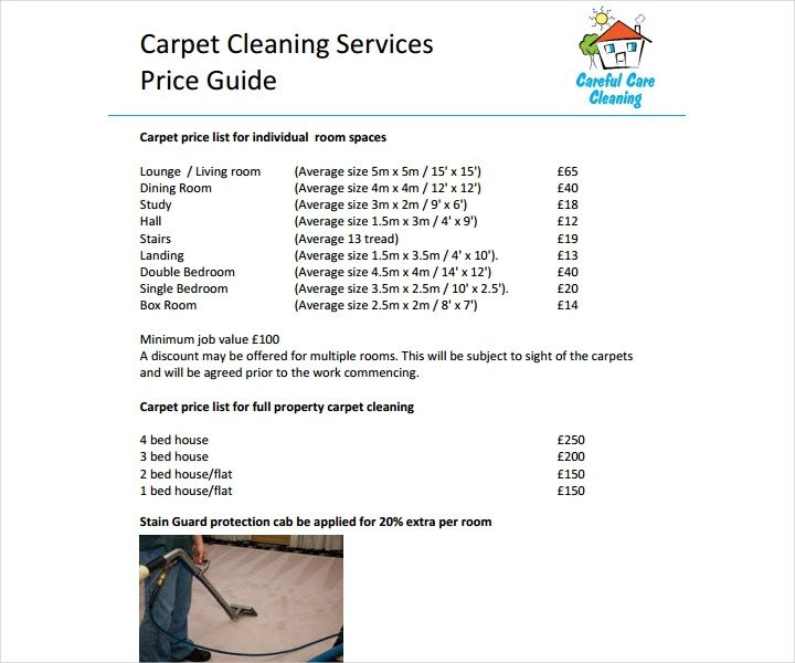 Cleaning Services Price List Template 8 Cleaning Price List Templates Free Word Pdf Excel
