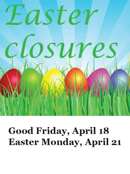Closed Easter Sign Template Calendar Of Adult events