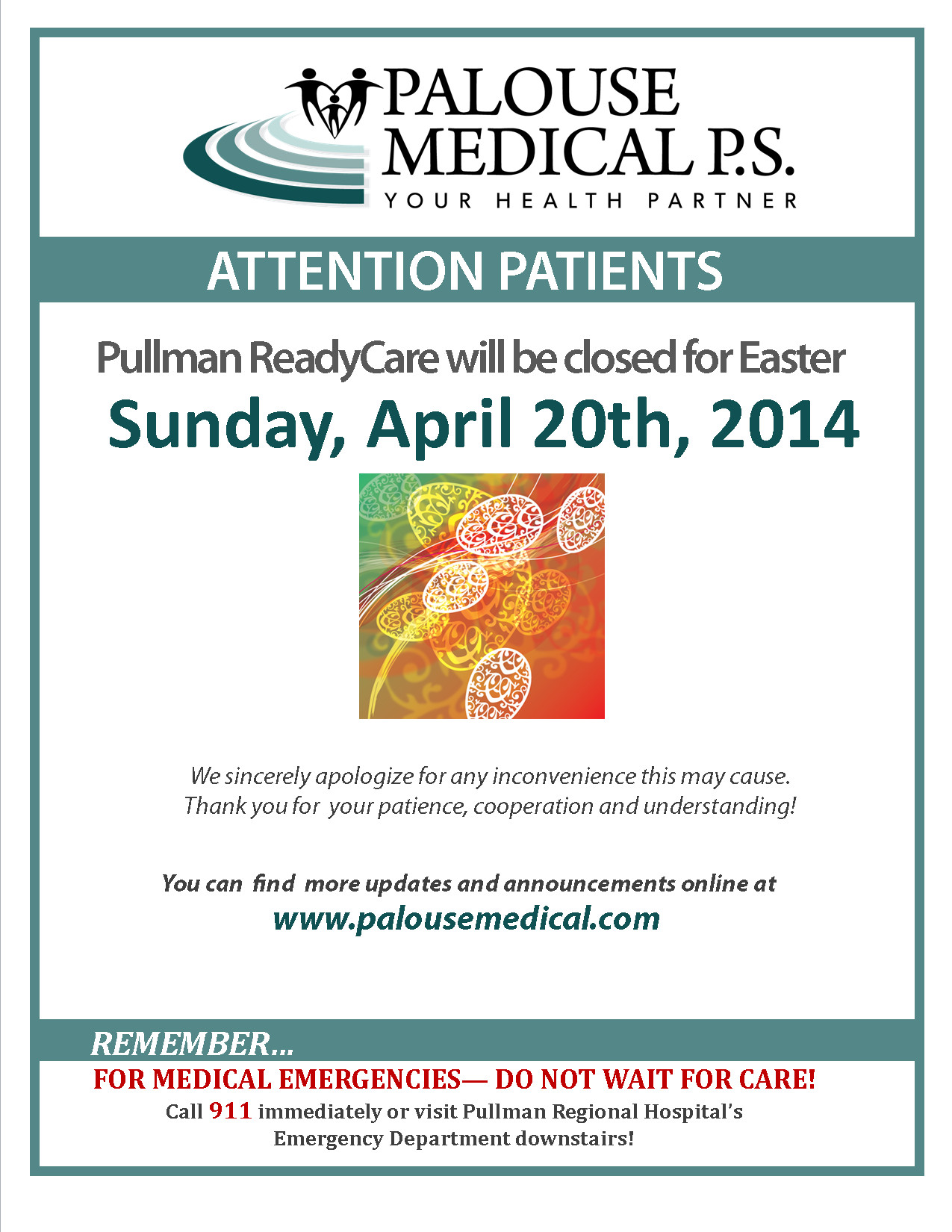 Closed Easter Sign Template Special Hours & Notices