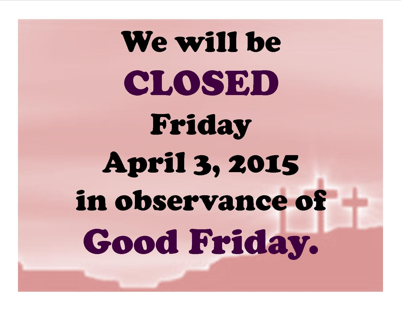 Closed Good Friday Sign Akron Carnegie Public Library