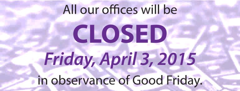 Closed Good Friday Sign Fice Closed Good Friday
