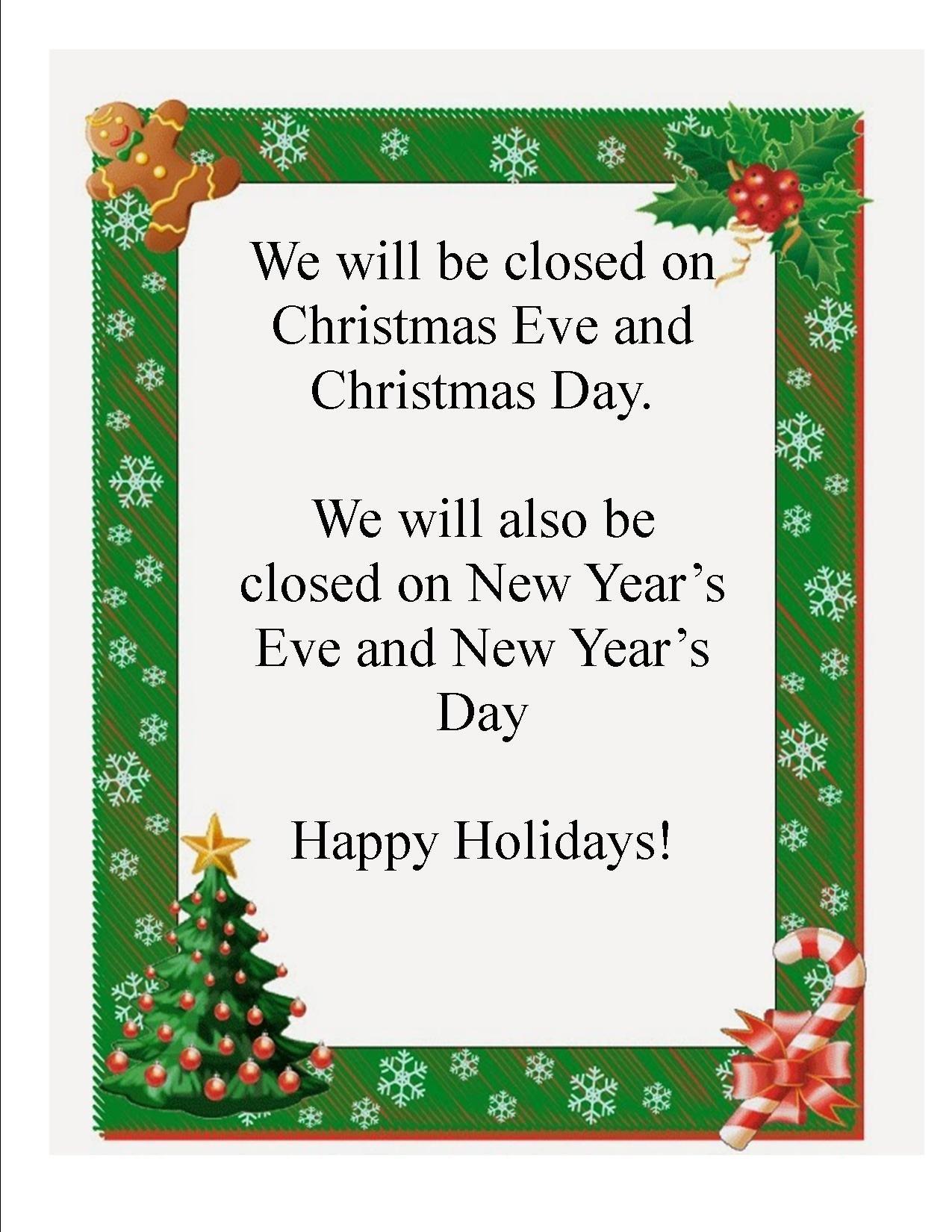 Closing Early Sign Template Christmas Closing Sign 2014 Jpeg