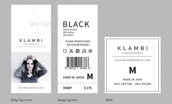 Clothing Care Label Template 20 Cool Product Tag & Label Design Templates – Desiznworld